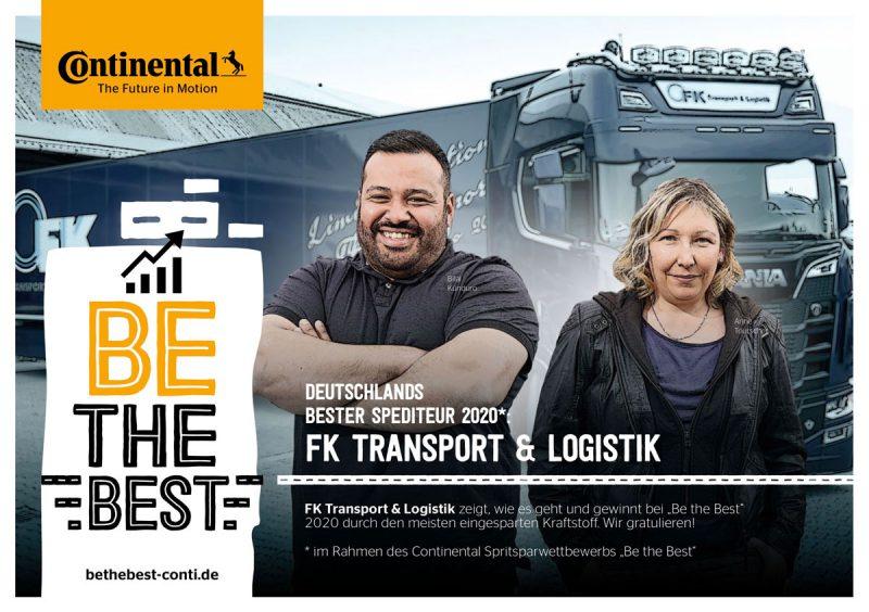 Continental BE THE BEST - FK Transport & Logistik